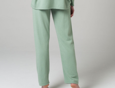 Pantalon maille vert amande Eucalyptus