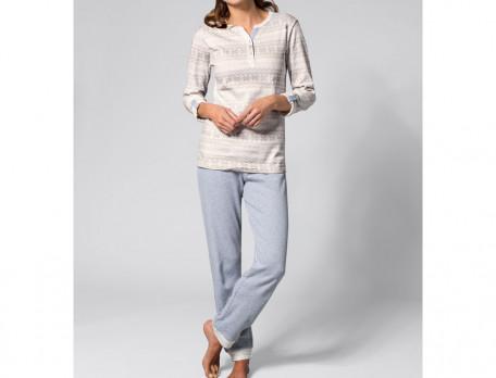 Pantalon gris chiné Jour de neige