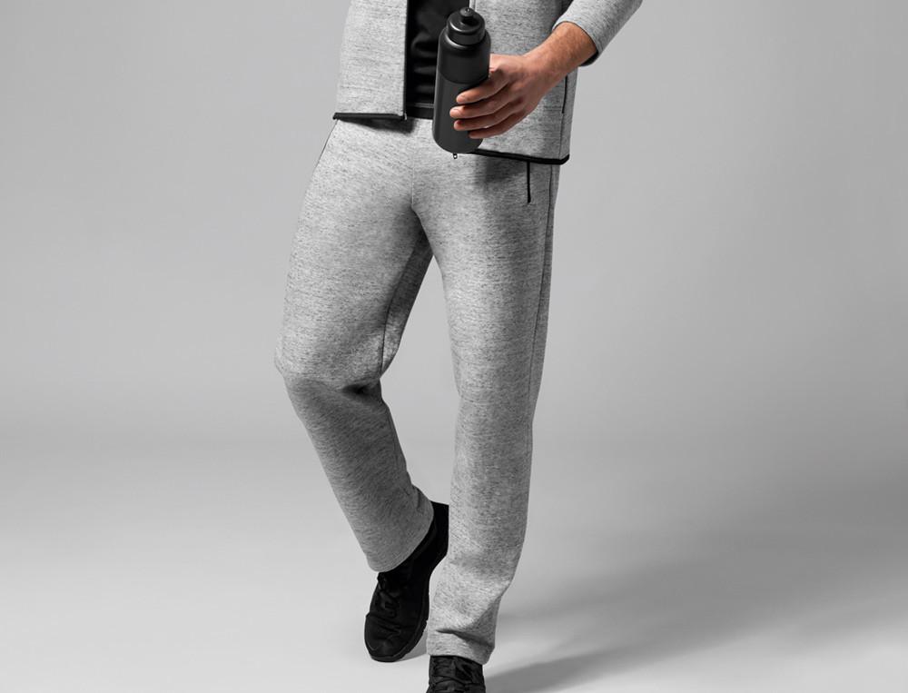 Pantalon molleton gris chiné Au vestiaire