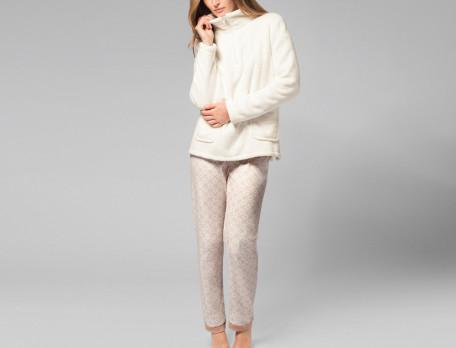 Pantalon imprimé en coton Islande