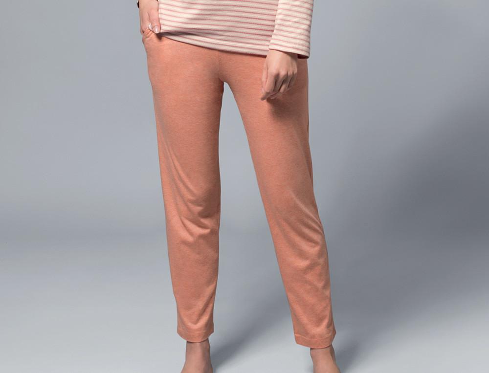 Pantalon jersey chiné corail Ambre