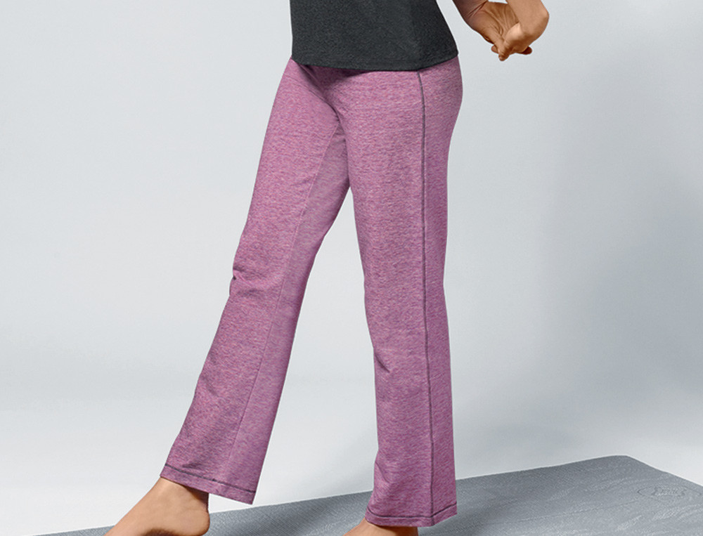 Pantalon rose chiné molleton Tonique