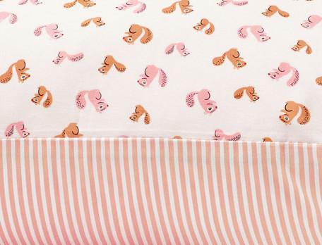 Parure de lit enfant imprimée 100% coton Noisette