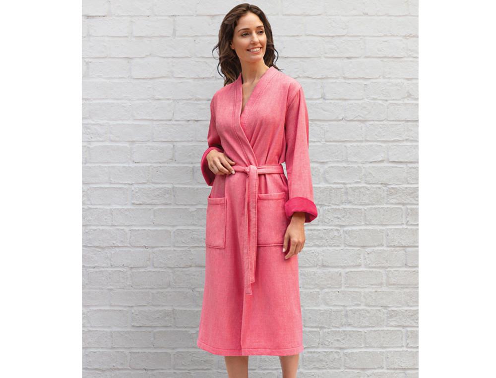 Peignoir d'été rose 100% coton À Santa Fe