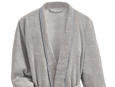 Peignoir uni gris chiné Aurore Baltique