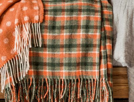 Plaid écossais tissé-teint Piste noire