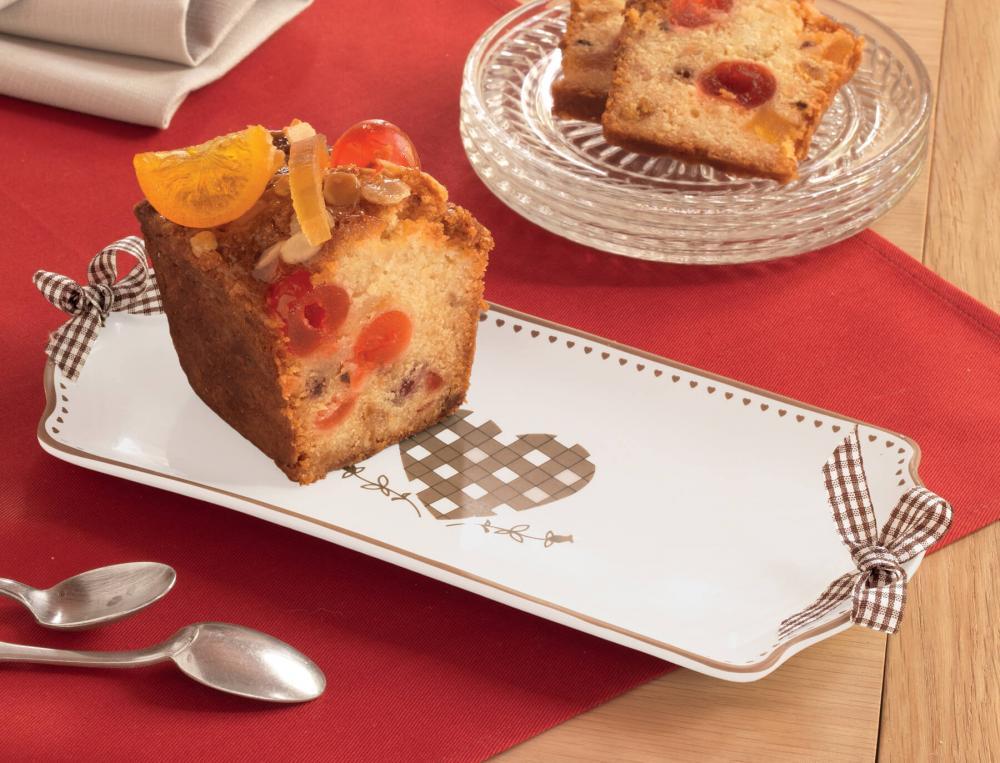 Plat à gâteau en céramique Joli cœur