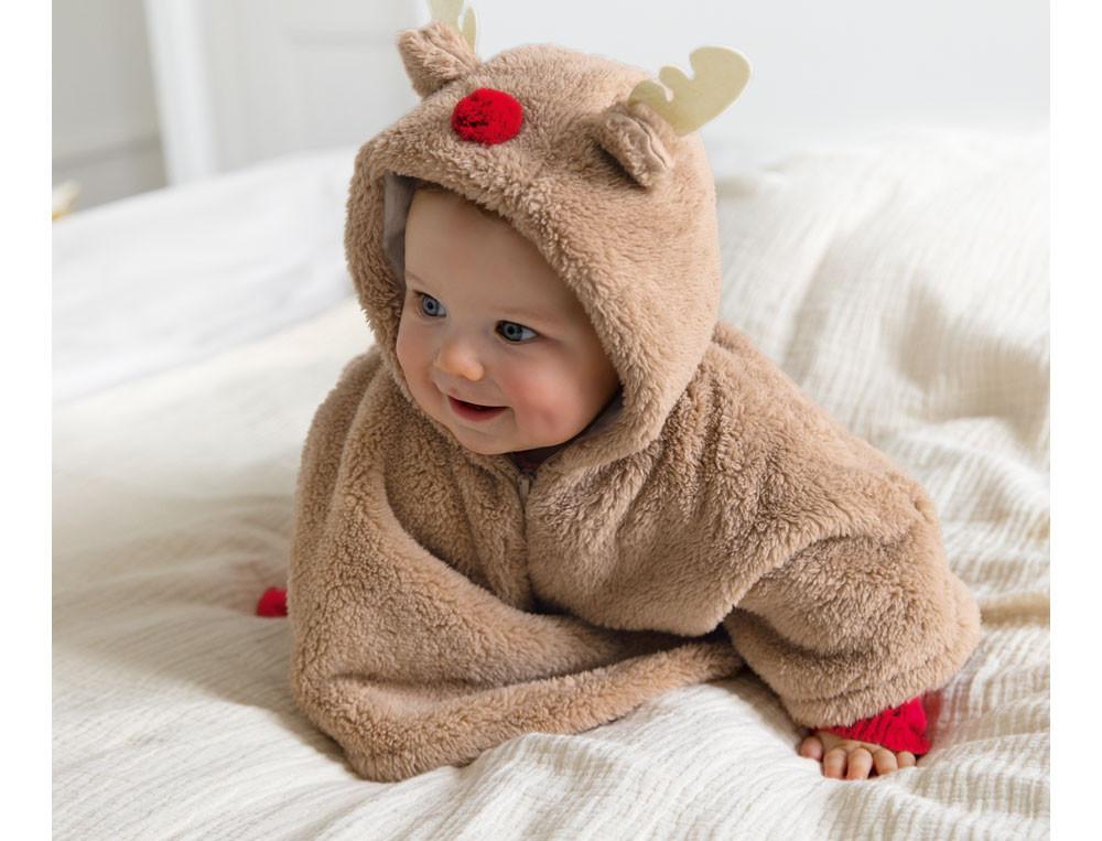 Poncho Fleece Kleines Rentier