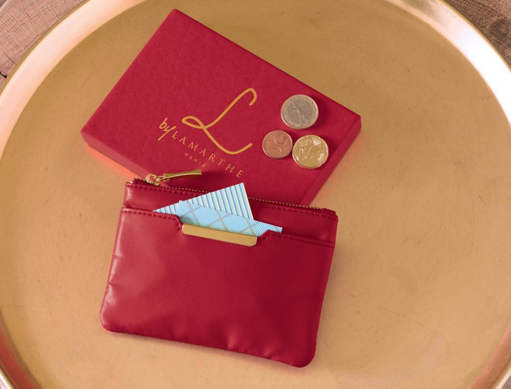 Porte-monnaie en cuir Lamarthe