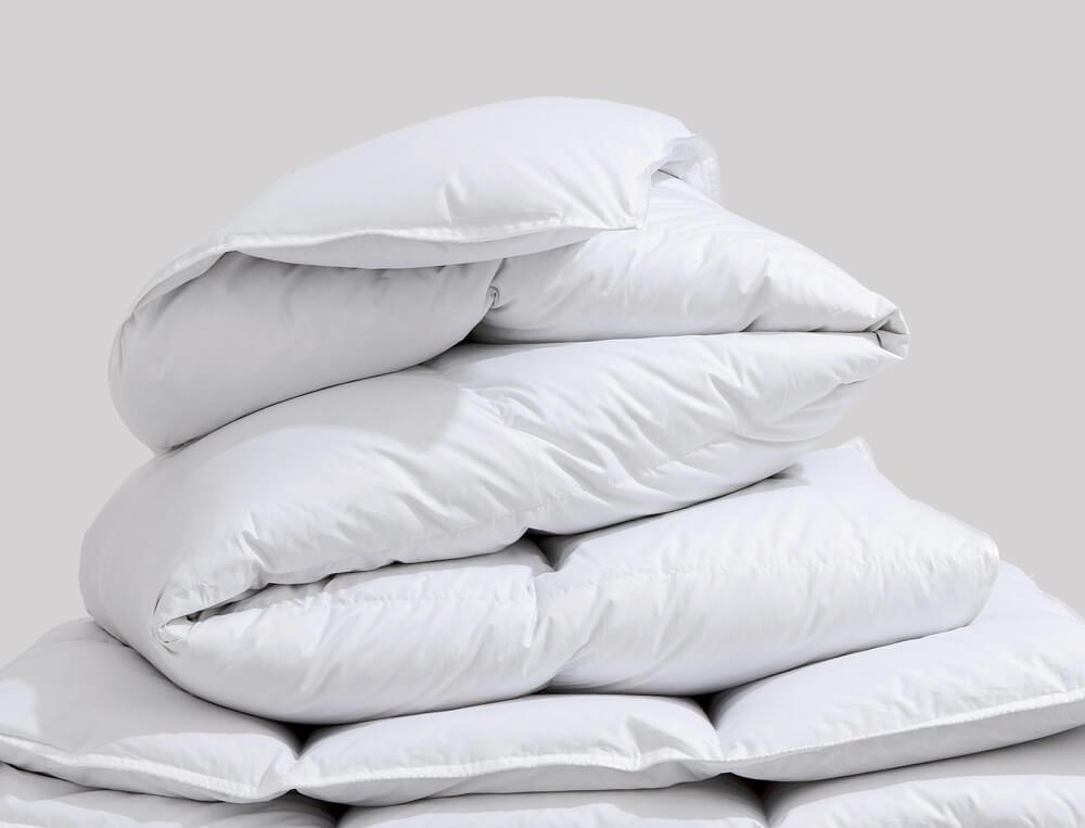Couette Prestige hiver canard blanc 300g/m2 percale 100% coton