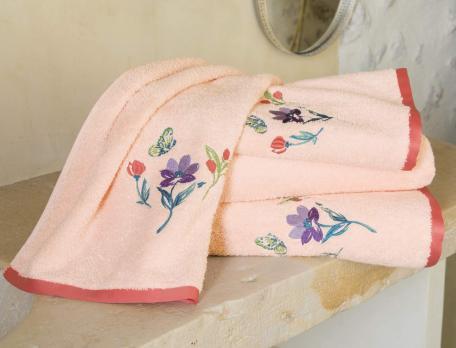 Linge de bain brodé Primaflora