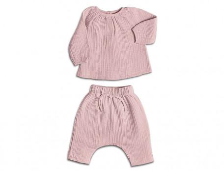 Pyjama bébé fille en gaze de coton Duo câlins
