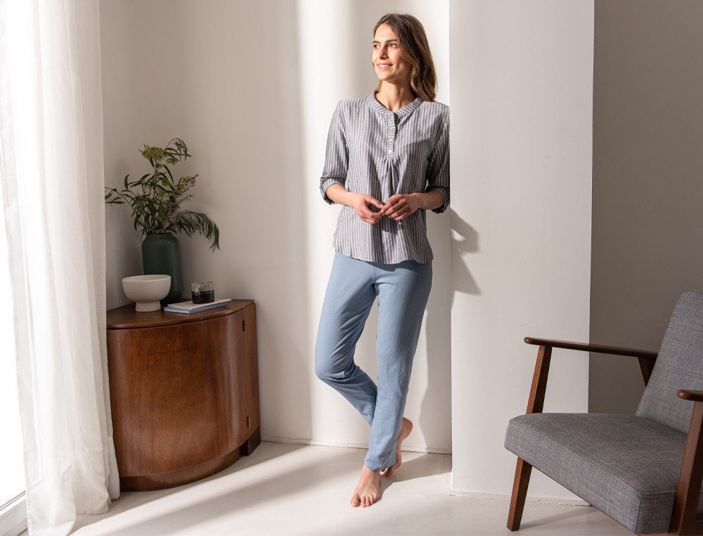 Pyjama Blauschimmer  Linvosges