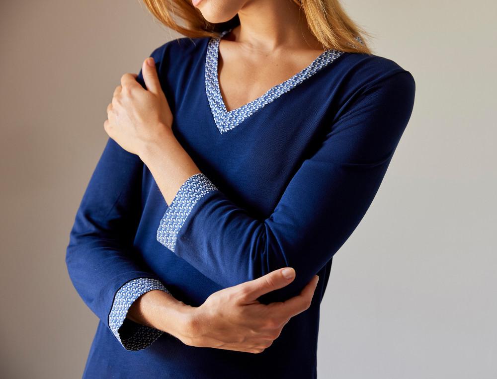 Pyjama jersey Bleu de minuit