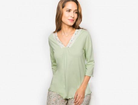 Pyjama Blumenlese Baumwolle Linvosges