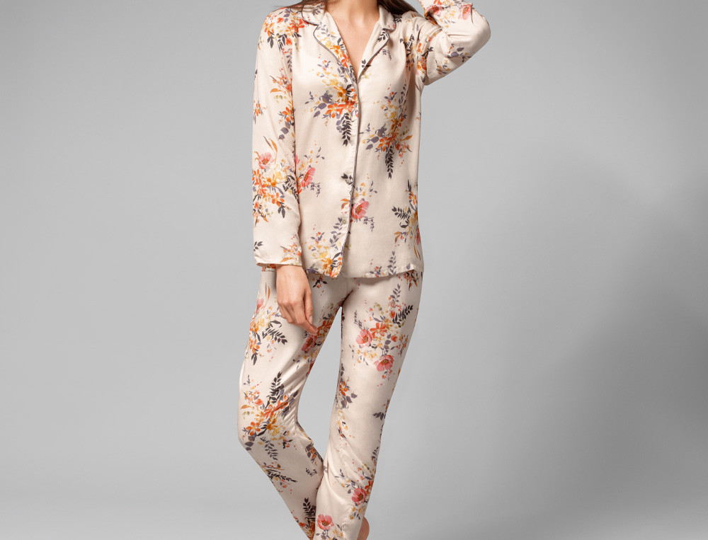 Pyjama Blumentraum Satin Linvosges