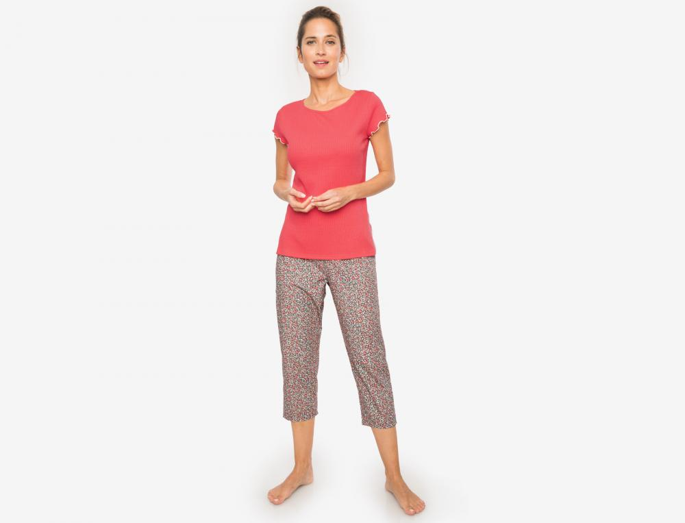 Pyjama uni et imprimé femme Brise légère
