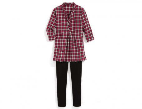 Pyjama tissé-teint Coralie