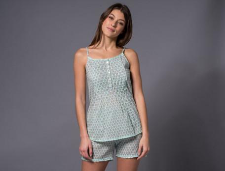 Pyjama court femme voile de coton Simplement nature