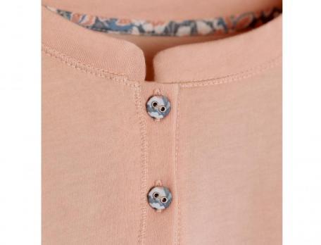 Pyjama imprimé et jersey Douceur cuivrée