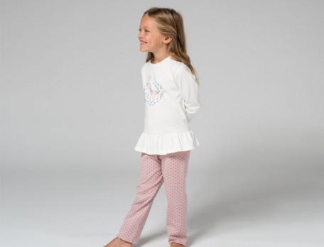 Pyjama enfant jersey et imprimé 100% coton Au pays des licornes