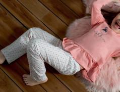 Pyjama enfant fille brodé Accroche lune