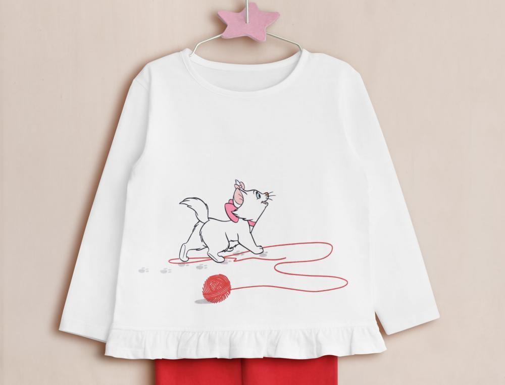 Pyjama enfant fille en coton Les Aristochats