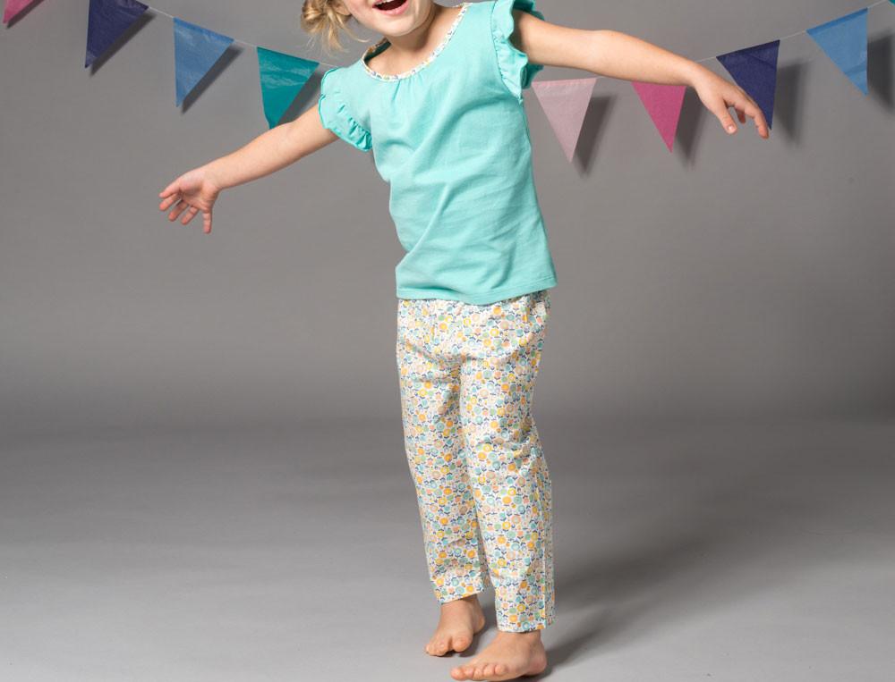 Pyjama et pyjama short imprimés enfant fille Matin d'été