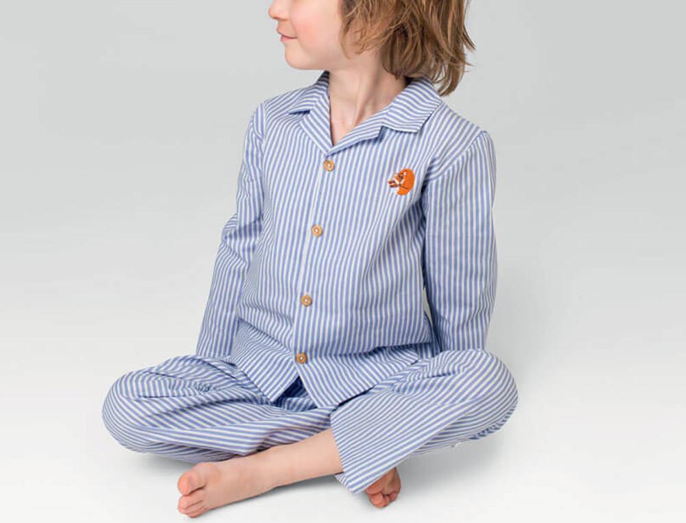 Pyjama garçon imprimé rayé 100% coton Fox