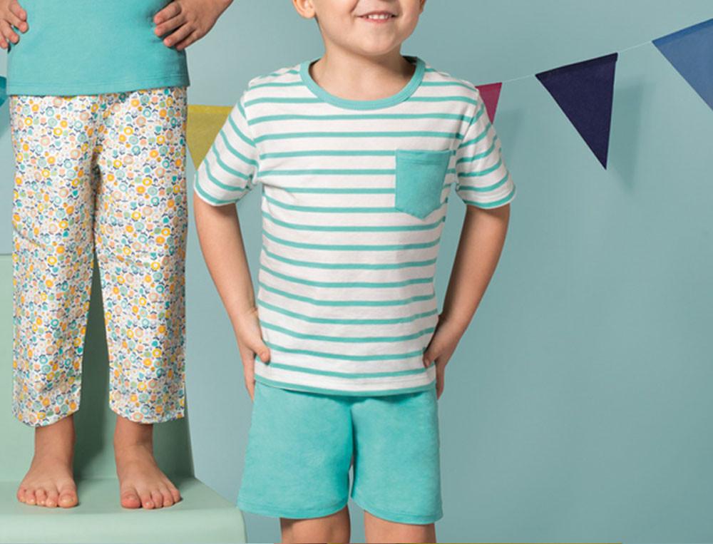 Pyjama short jersey enfant garçon Matin d'été