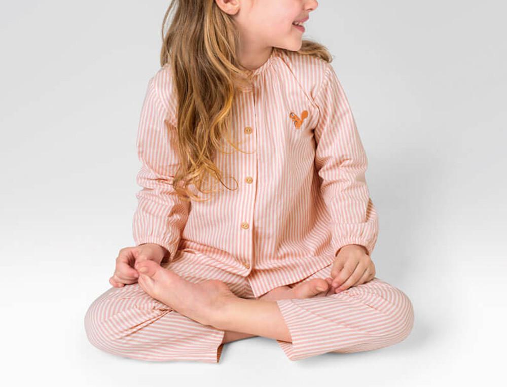 Pyjama enfant imprimé 100% coton Noisette