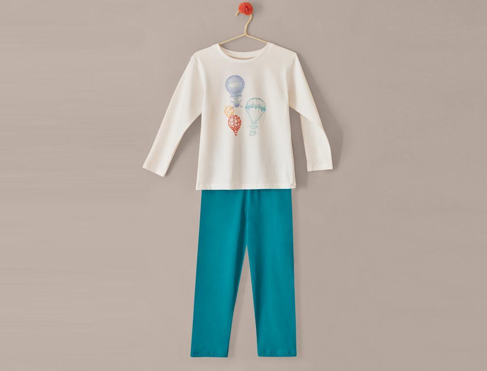 Pyjama et pyhashort enfant Voyage en Montgolfière