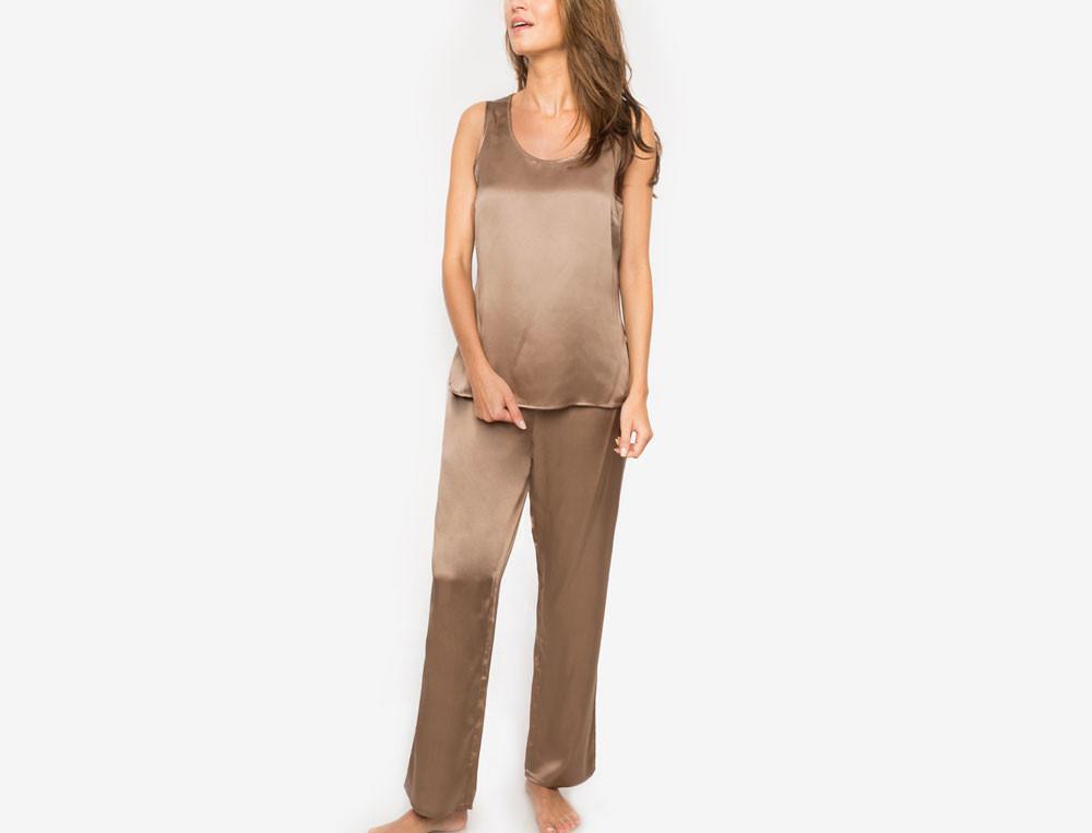 Pyjama en soie naturelle Evana