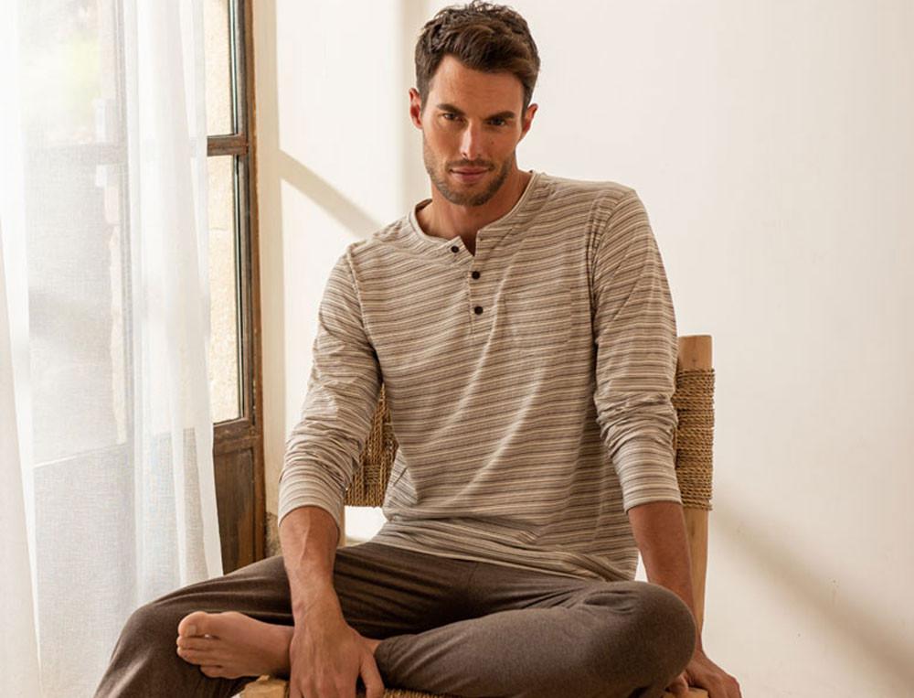 Pyjama Familienbande Baumwolle Linvosges