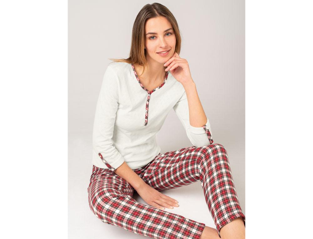 Pyjama femme écossais En tandem