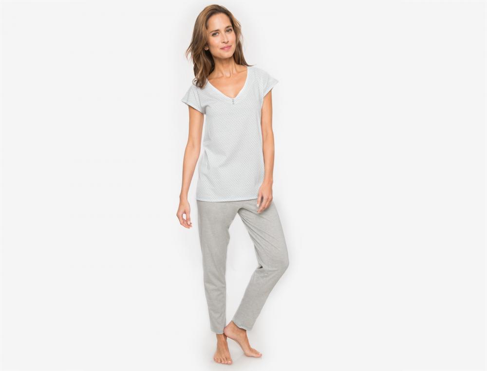 Pyjama jersey Plumetis