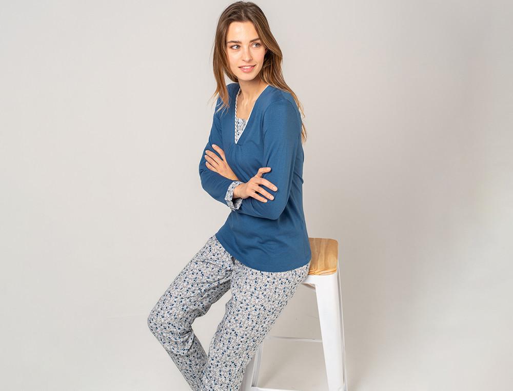 Pyjama imprimé femme Souffle d'encre