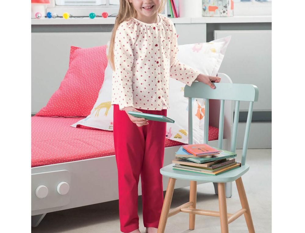 Pyjama enfant fille jersey Les animaux de la forêt