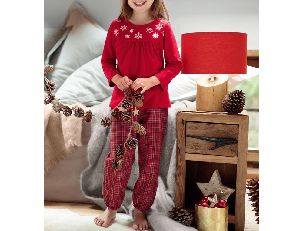 Pyjama enfant fille brodé Premiers flocons