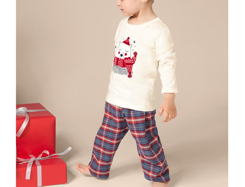 Pyjama garçon haut imprimé et bas écossais Ma tribu