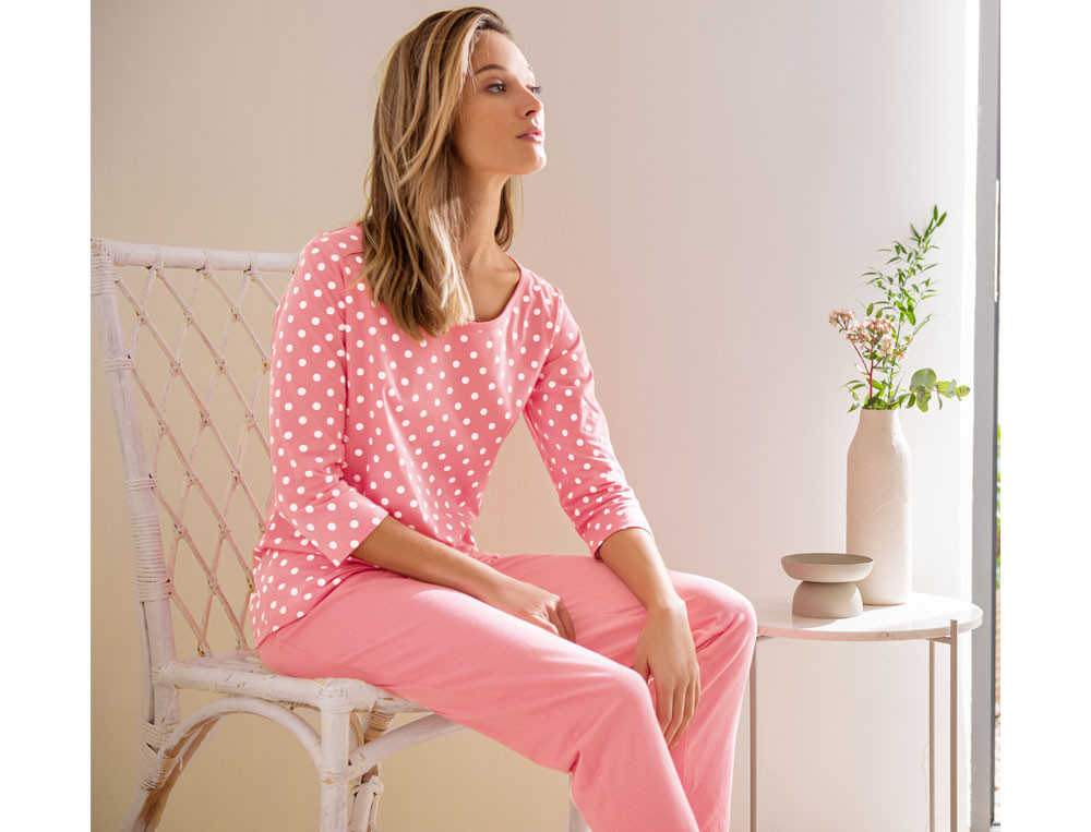 Pyjama Gepunktet Alexis Baumwolle Linvosges