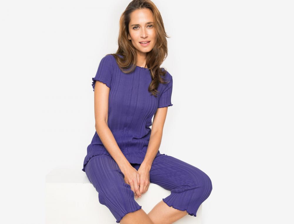 Pyjama jersey effet plissé Héliades