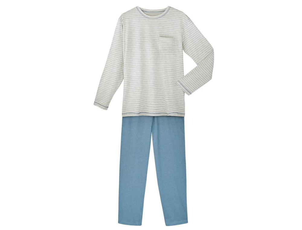 Pyjama et pyjashort homme jersey Bleu horizon