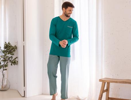 Pyjama homme coton et jersey La Havane