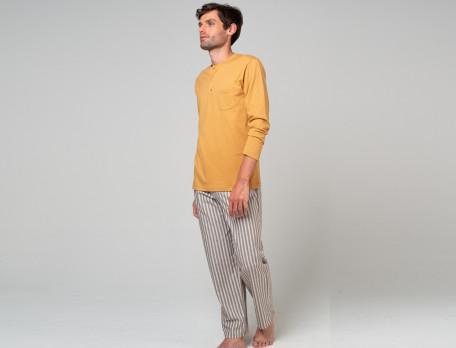 Pyjama homme 100% coton rayé tissé-teint Les rêveurs