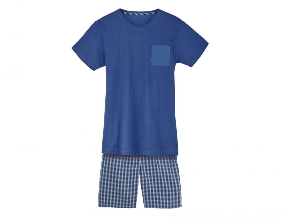 Pyjama homme 100% coton Rêves indigo