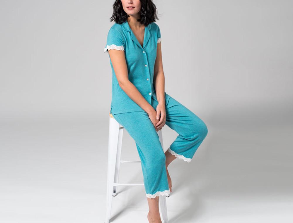 Pyjama court jersey 50% coton et 50% modal Joséphine B.