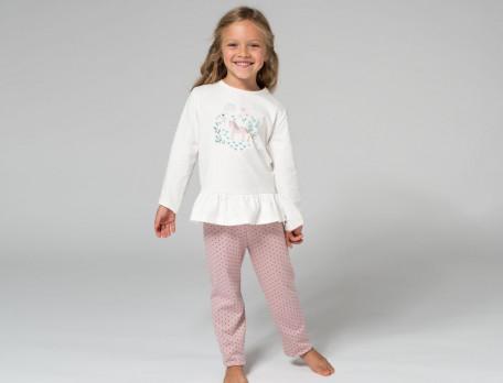 Mädchen-Pyjama Kleines Einhorn Baumwolle Linvosges