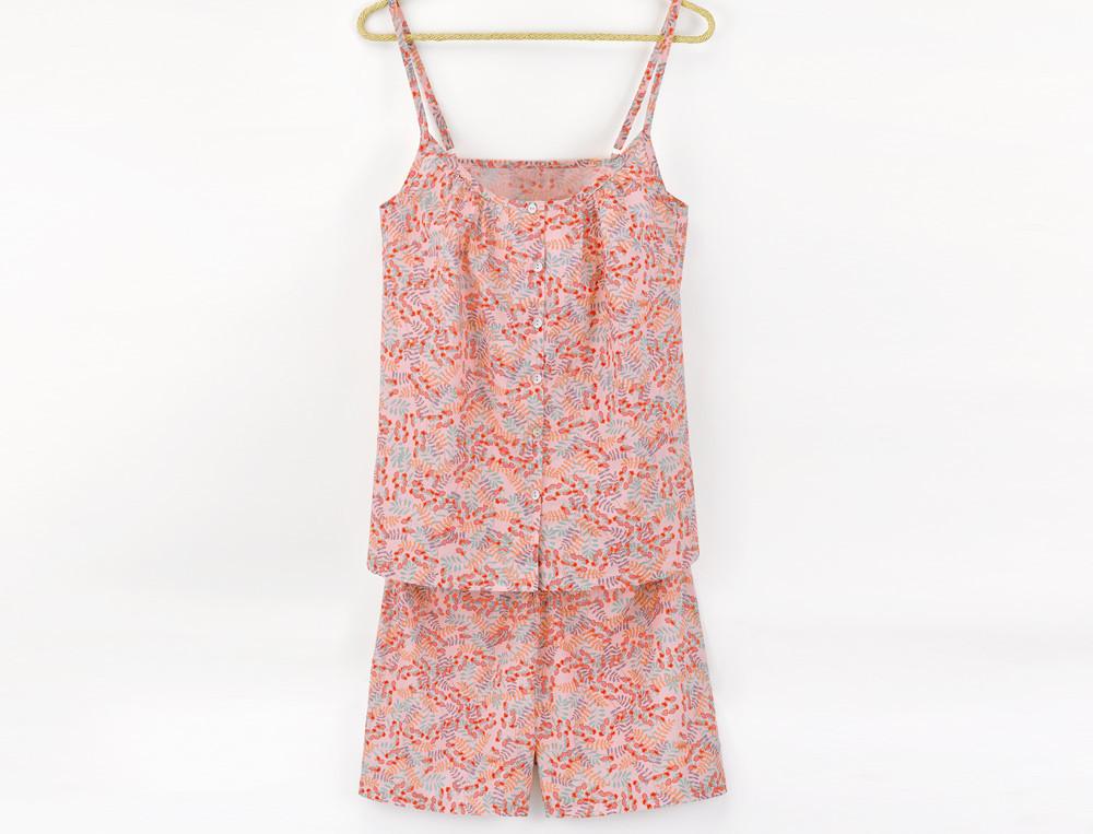 Pyjama-kurz Avignon Baumwollvoile Linvosges