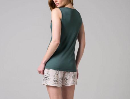 Pyjama Kurz Blumenschmuck Blumenmotiv Linvosges